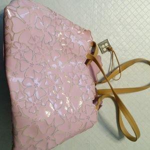 BCBGirls Pink embroidered flower purse